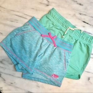🌈 Shorts, Lot of 2 Size 10-12 Aqua Blue & Mint 🌈